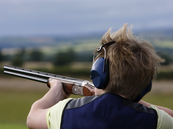 Childrens Clay Pigeon Shooting Yarnscombe Nr Barnstaple, Devon