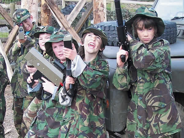 Childrens Laser Combat Hanbury, Worcestershire